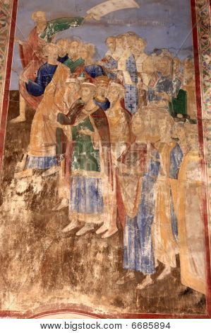 Medieval Painting On Wall