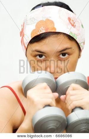 Energetic Fitness Woman