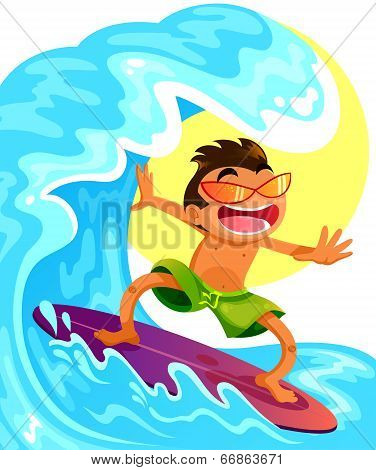 cartoon surfer