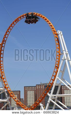 The Thunderbolt roller coaster on June 15, 2014 at Coney Island in Brooklyn