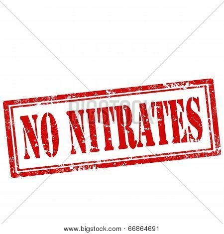 No Nitrates-stamp