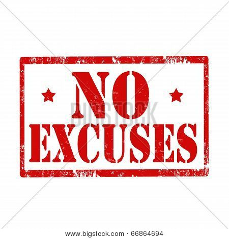 No Excuses-stamp