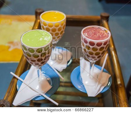 Thick And Creamy Puree Like Multilayered Juice Is An Ethiopian Prime Soft Drink.