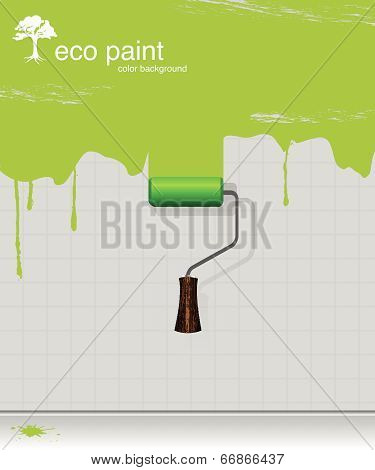 1_vector Drawing Eco Paint-roller