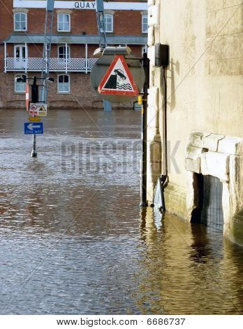 Flooded Traffic Signs