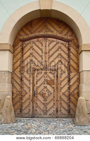 Wooden Church Door within Door