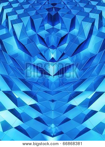Abstract dynamic block background 3d illustration