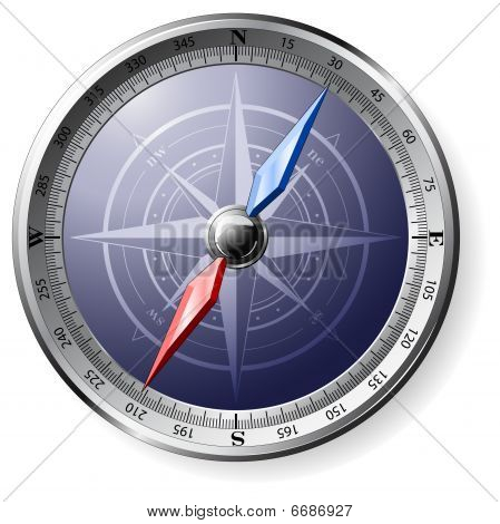 Detailed Steel Compass