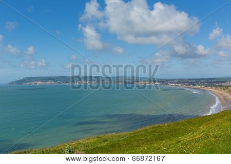 Bay and coastline Shanklin and Sandown Isle of Wight