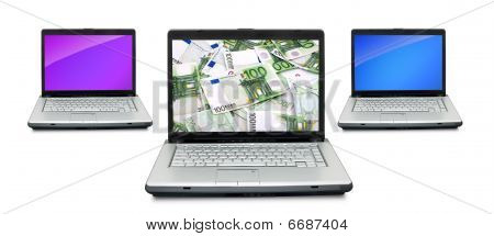 Open Laptops With Money