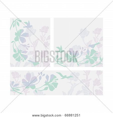 Floral Layouts Set