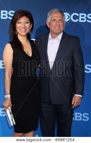 LOS ANGELES - JUN 16:  Julie Chen, Les Moonves at the