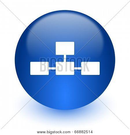 database computer icon on white background