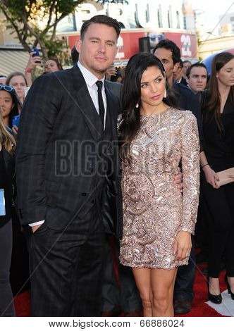 LOS ANGELES - JUN 09:  Channing Tatum & Jenna Dewan-Tatum arrives to the