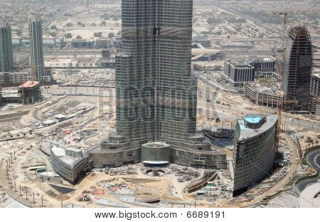 Construction Of Burj Dubai (Burj Khalifa) world's tallest skyscraper