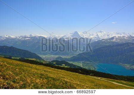Panorama With Alpine Meadow From Niederhorn