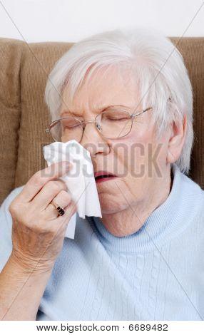Sick Senior Sneezing