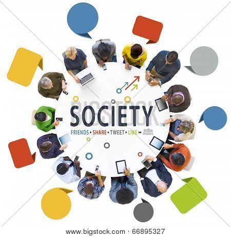 People Social Networking with Text Society