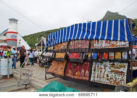 Street Market Of African Crafts,cape Town, South Africa.