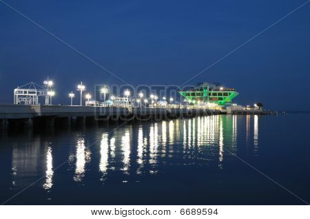 Pier In St. Petersburg at Night,  Florida