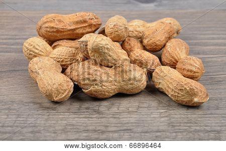 Peanuts On Wood