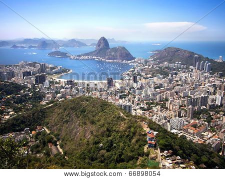 Sugarloaf Mountain and Rio de Janeiro Cityscape, Brazil