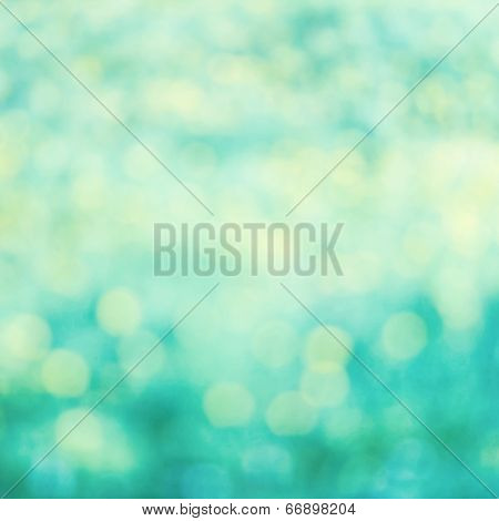 Defocused Bokeh Twinkling Lights Vintage Background. Festive Background With Bokeh And Bright White