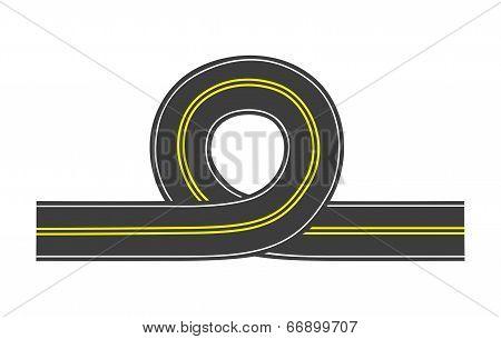 Vector Road With Loop