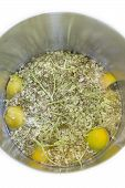 stock photo of elderflower  - Elderflower lemon and water in a pot - JPG