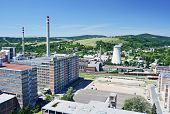 stock photo of tomas  - View to the Zlin city Czech Republic - JPG