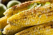 image of cilantro  - Delicious Grilled Mexican Corn with Chili Cilantro and Lime
