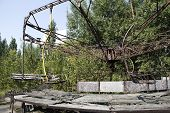 foto of nuclear disaster  - Children playgrounds in Pripyat  - JPG