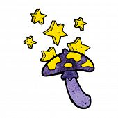foto of toadstools  - cartoon magic toadstool - JPG