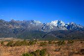 image of jade blue  - Jade dragon snow mountain in Yunnan China - JPG