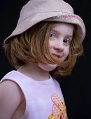 Cute Girl In Hat poster