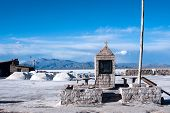 pic of salt mine  - Salinas Grandes on Argentina Andes is a salt desert in the Jujuy Province - JPG