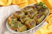 foto of grape leaf  - Turkey kinds of cold dishes and desserts - JPG