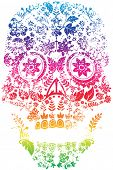 picture of sugar skulls  - Day of the Dead Sugar Skull Design - JPG