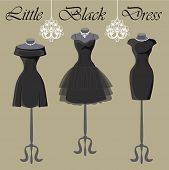 picture of little black dress  - The composition of the three female - JPG
