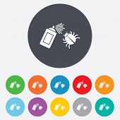 stock photo of disinfection  - Bug disinfection sign icon - JPG
