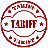 image of tariff  - Rubber stamp with text Tariff - JPG