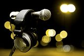 pic of microphone  - live music background - JPG