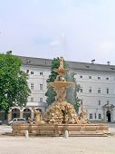 stock photo of fountains  - Fountain at Residenzplatz - JPG