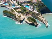 picture of sidari  - Aerial view on Sidari in Corfu Kerkyra Greece - JPG