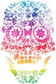 image of day dead skull  - Day of the Dead Sugar Skull Design - JPG
