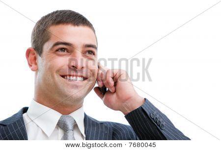 Portrait Of A Self-assured Businessman On Phone
