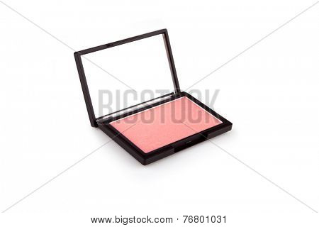 Beige blush isolated on white