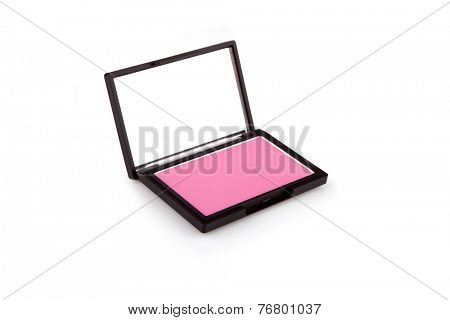 Pink blush box isolated on white