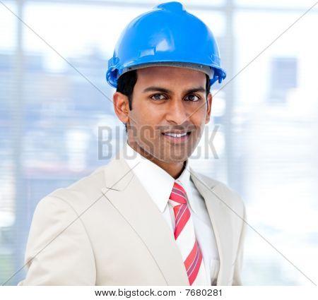 Self-assured Architect Standing