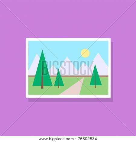 gallery picture flat design icon vector